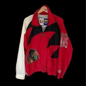 LA Logo athletic vintage Men's Chicago Blackhawks jacket size Medium